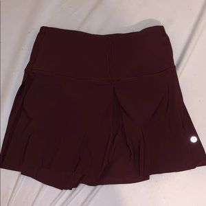 LULULEMON skirt with shorts underneath